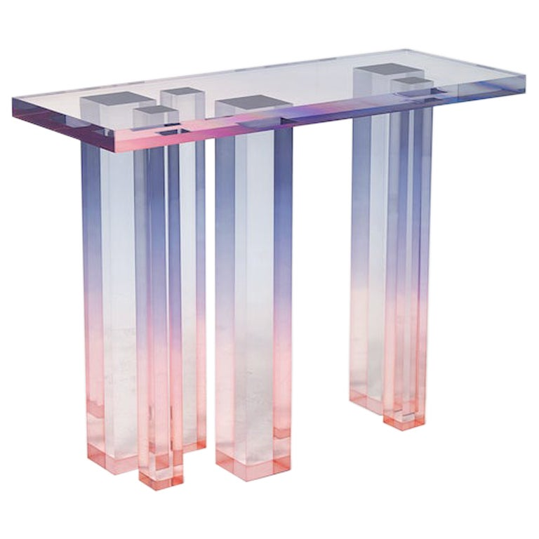 Acrylic Console Table, Crystal Series, Console Table No. 3 by Saerom Yoon