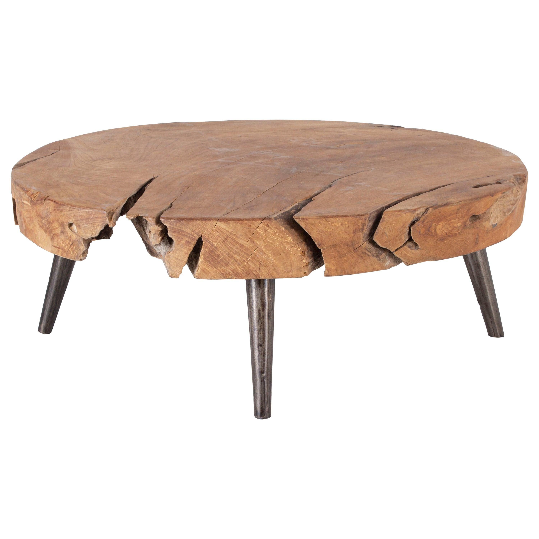 Organic Form Teak Coffee Table