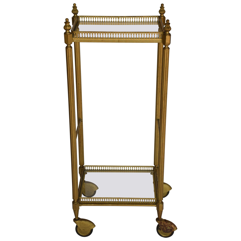 Brass Midcentury Bar Cart