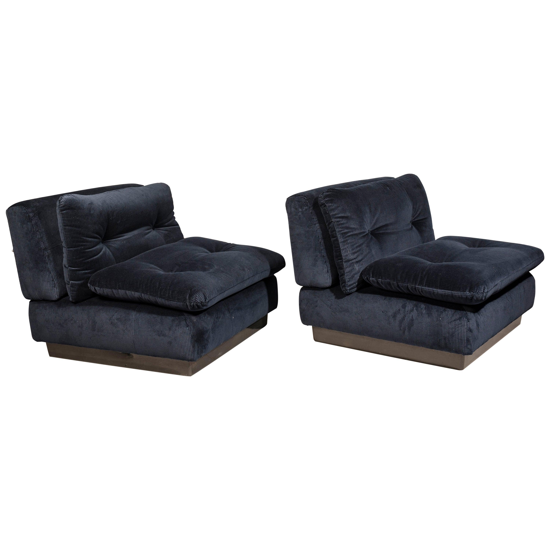Saporiti Italia Pair of Lounge Chairs, 1970s