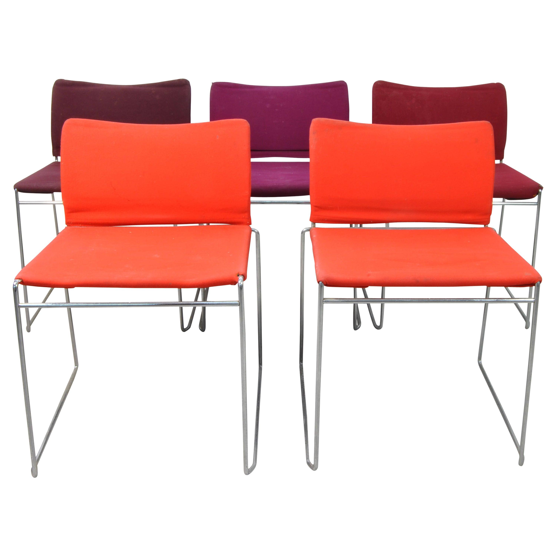 Set of Eight Dining Chairs Design Kazuhide Takahama for Simon Gavina, Italy 1968