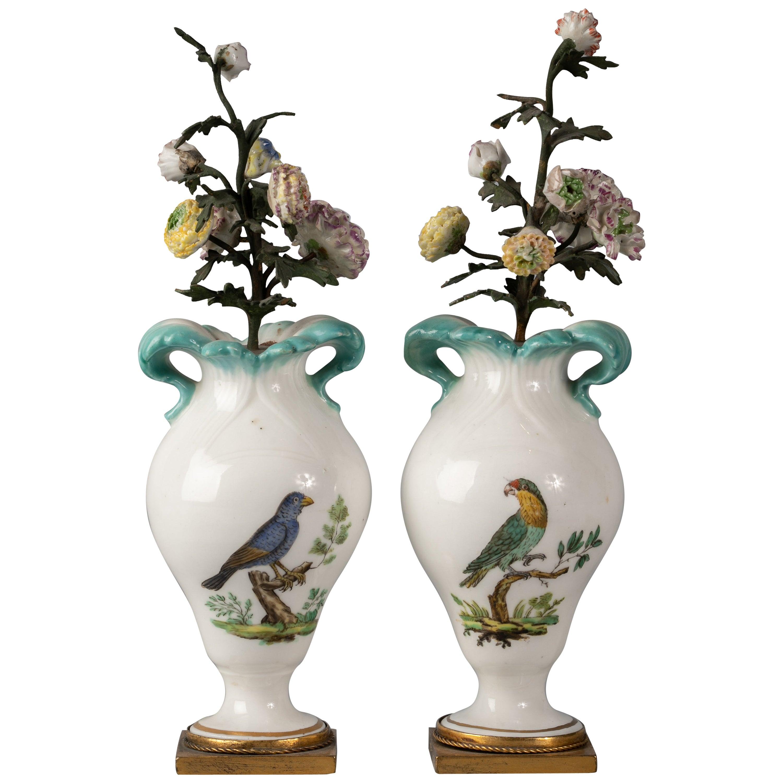 Pair of English Porcelain Urn-Shaped Vases, Coalport, circa 1820