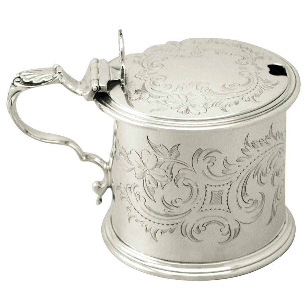 Antique Victorian Sterling Silver Mustard Pot, 1862
