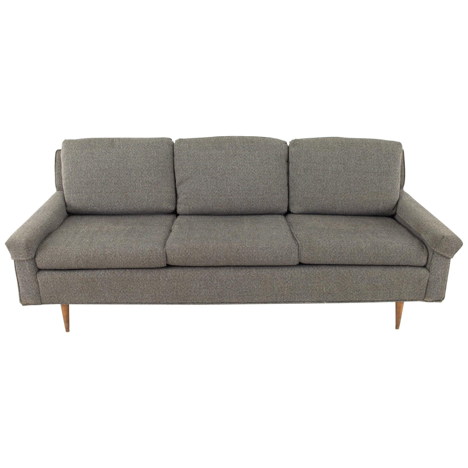 Milo Baughman Style Mid Century Custom Sofa