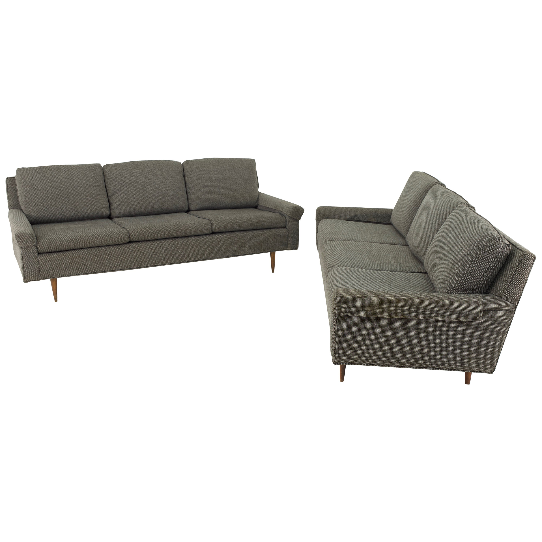Milo Baughman Style Mid Century Custom Sofa - Pair
