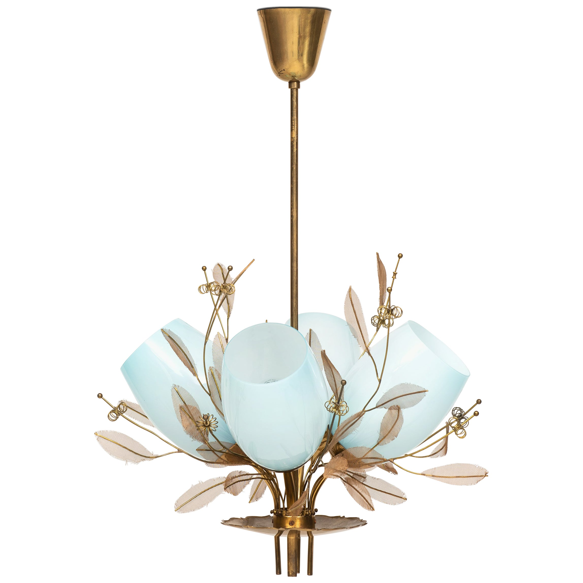 Paavo Tynell Ceiling Lamp Model 9029/4 Produced by Taito Oy in Finland