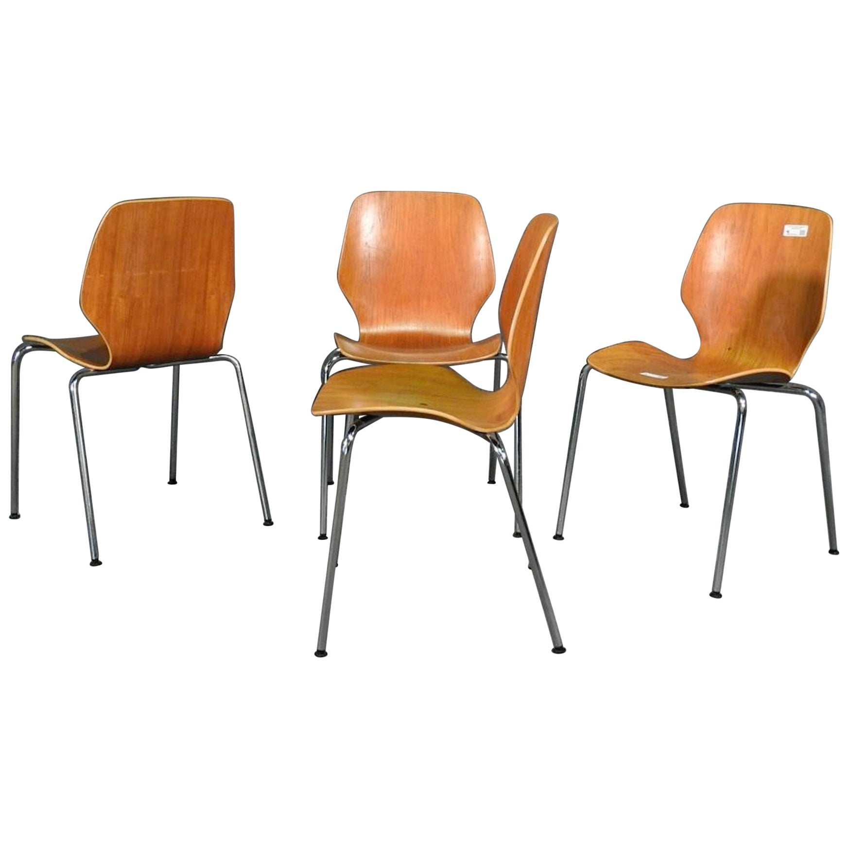 Midcentury Set of Bentwood Chairs