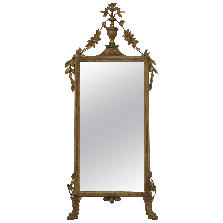 A Italian Neoclassic Giltwood Mirror