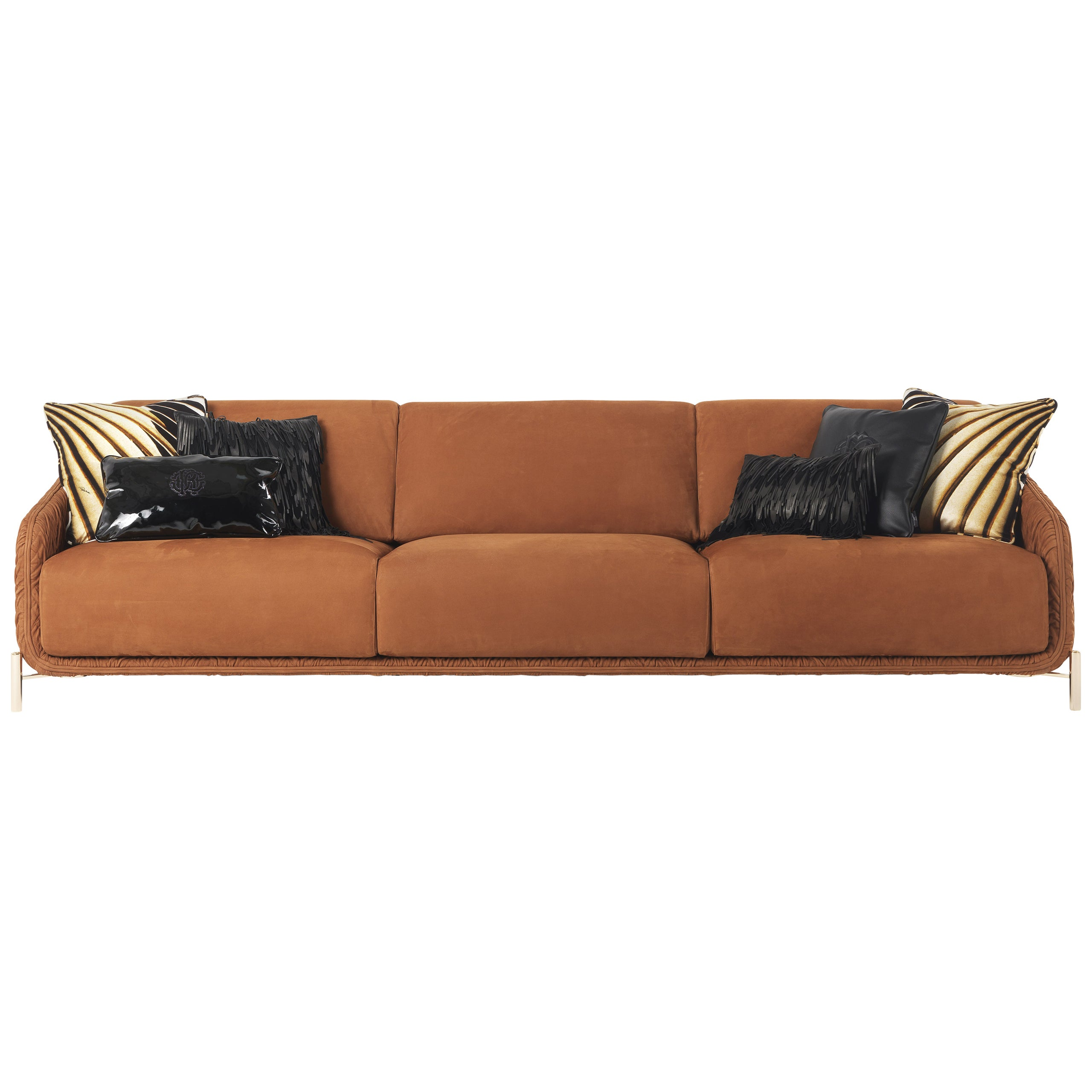 Clifton Sofa in Leather by Roberto Cavalli Home Interiors