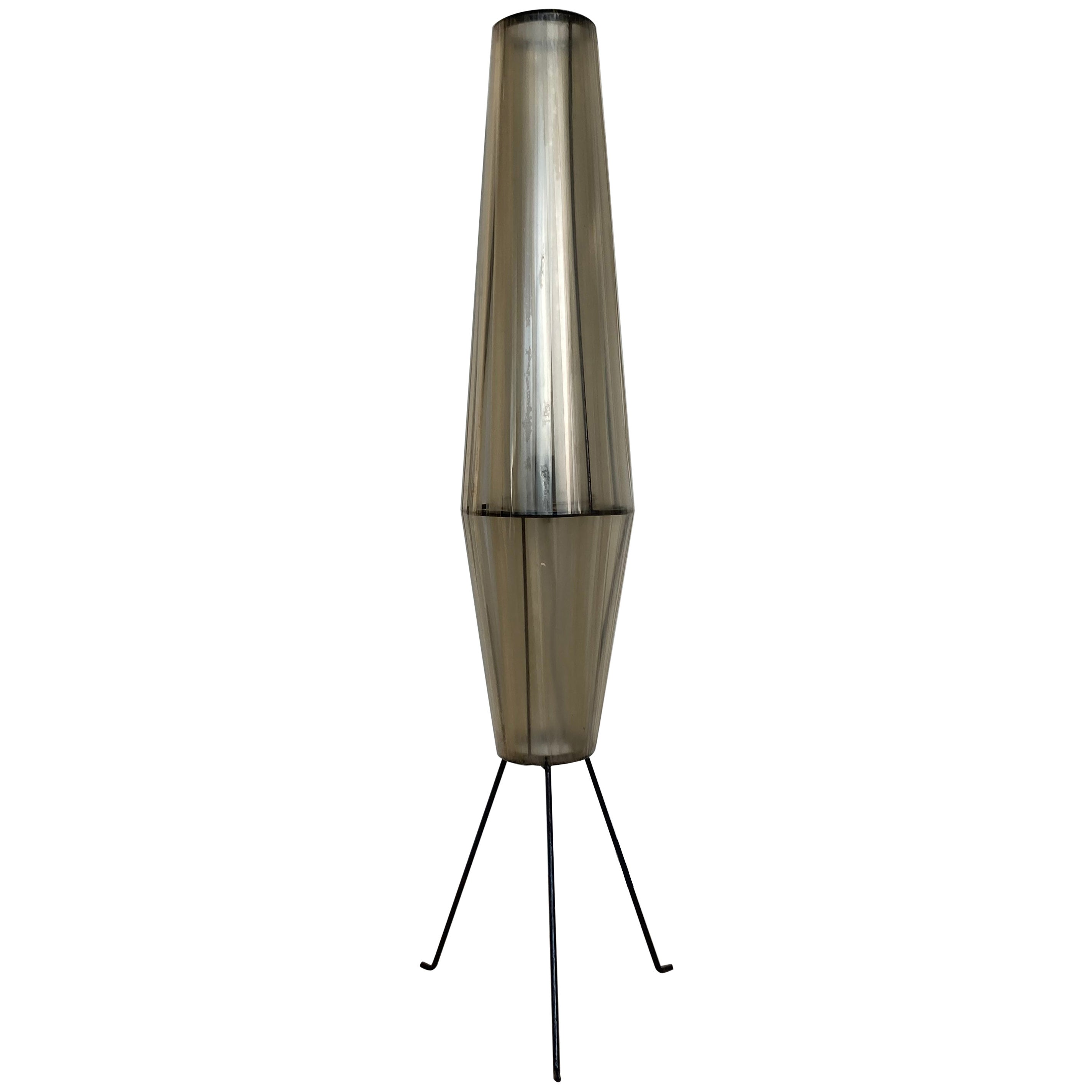 "Midcentury Space Age Floor Lamp ""Rocket"", Czechoslovakia, 1960s"
