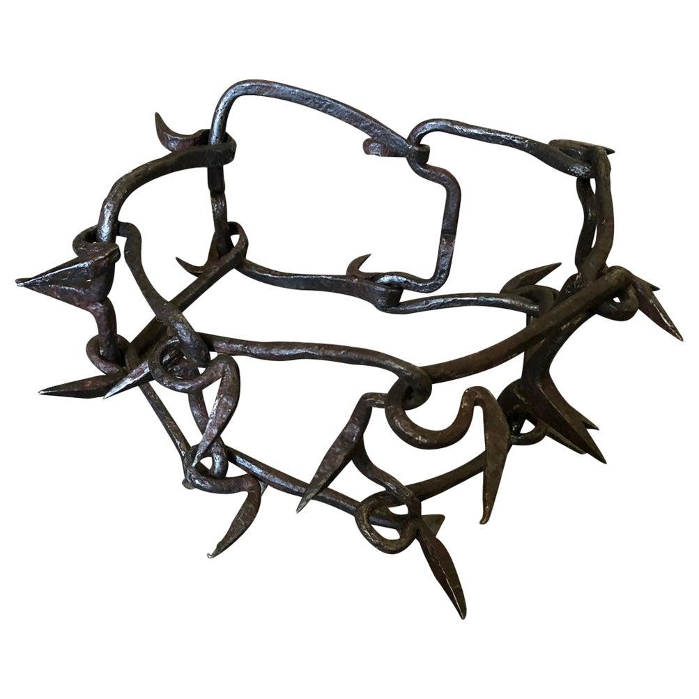Spanish 18th Century Iron Dog Collar