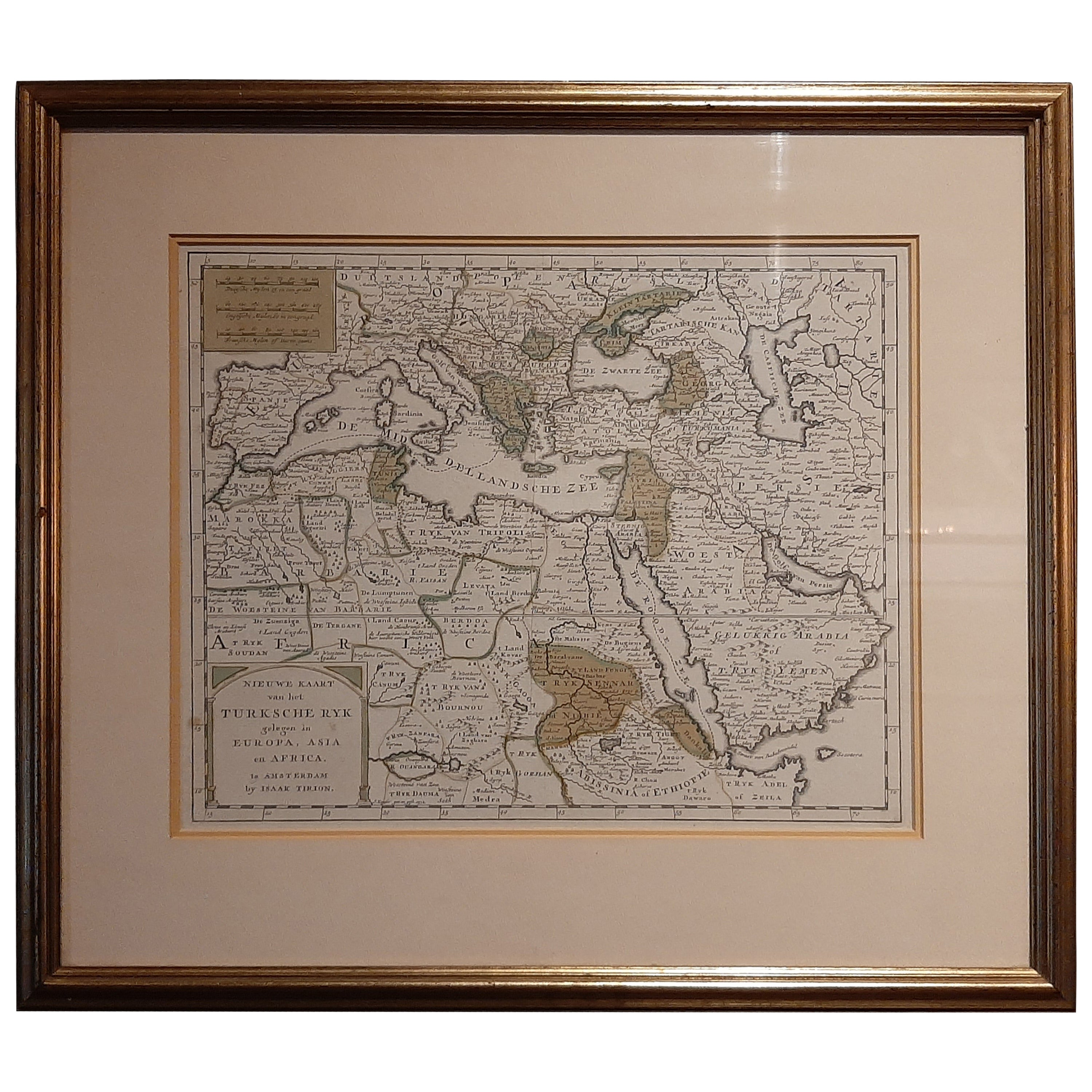 Antique Map of the Turkish Empire by Tirion, 1763
