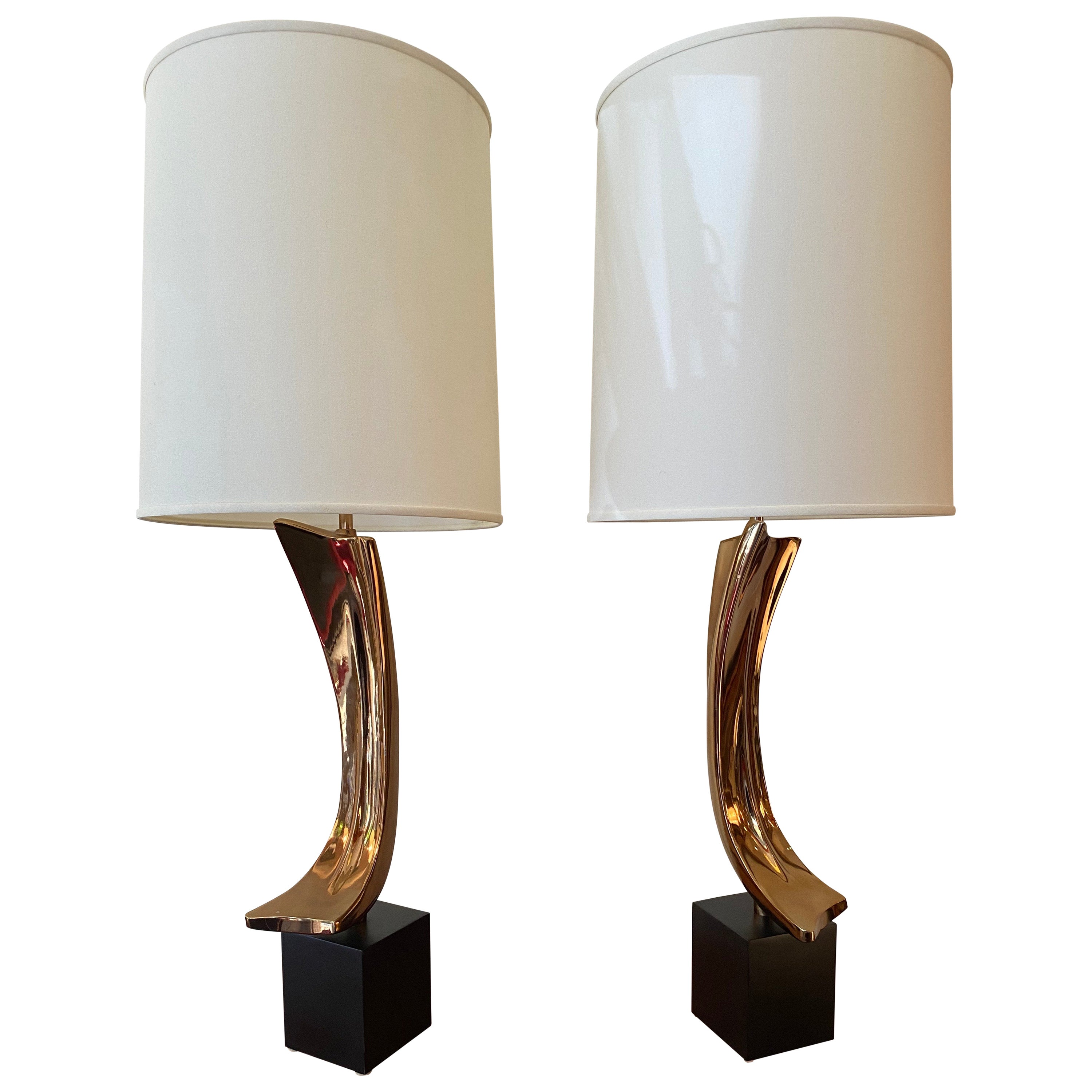Laurel Pair of Sculptural Table Lamps