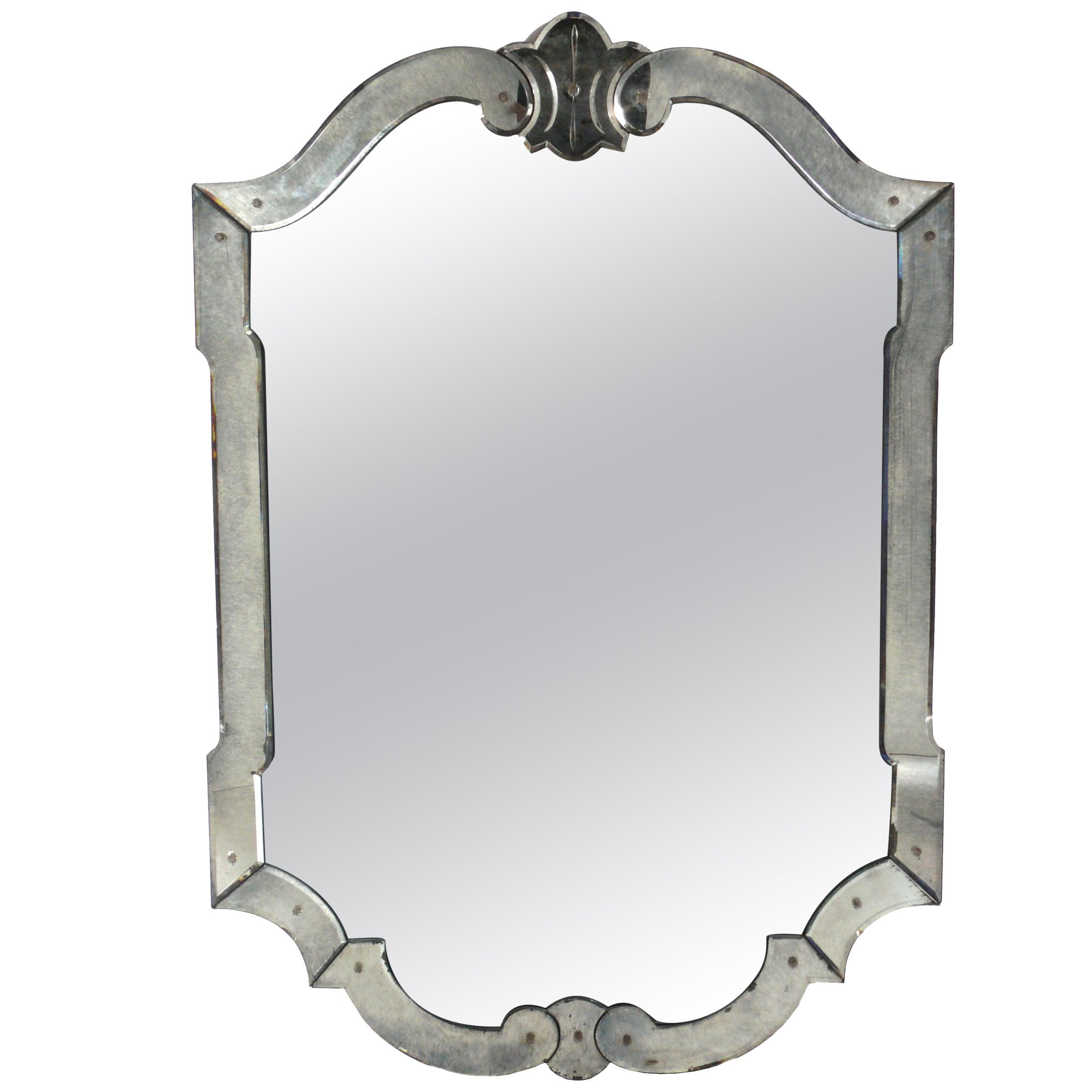 Elegant Venetian Mirror, circa 1940s