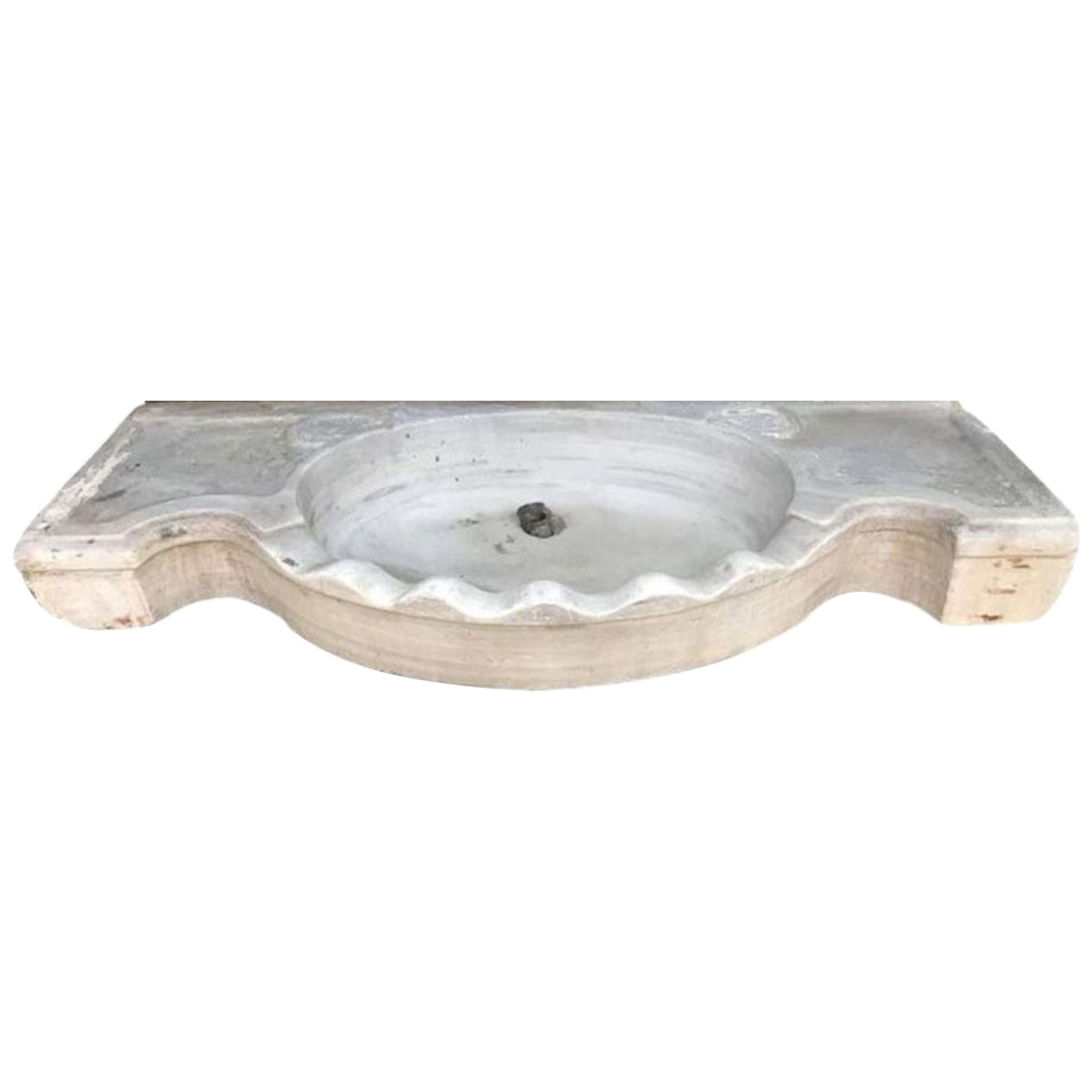 Classical Serpentine Marble Stone Sink Basin