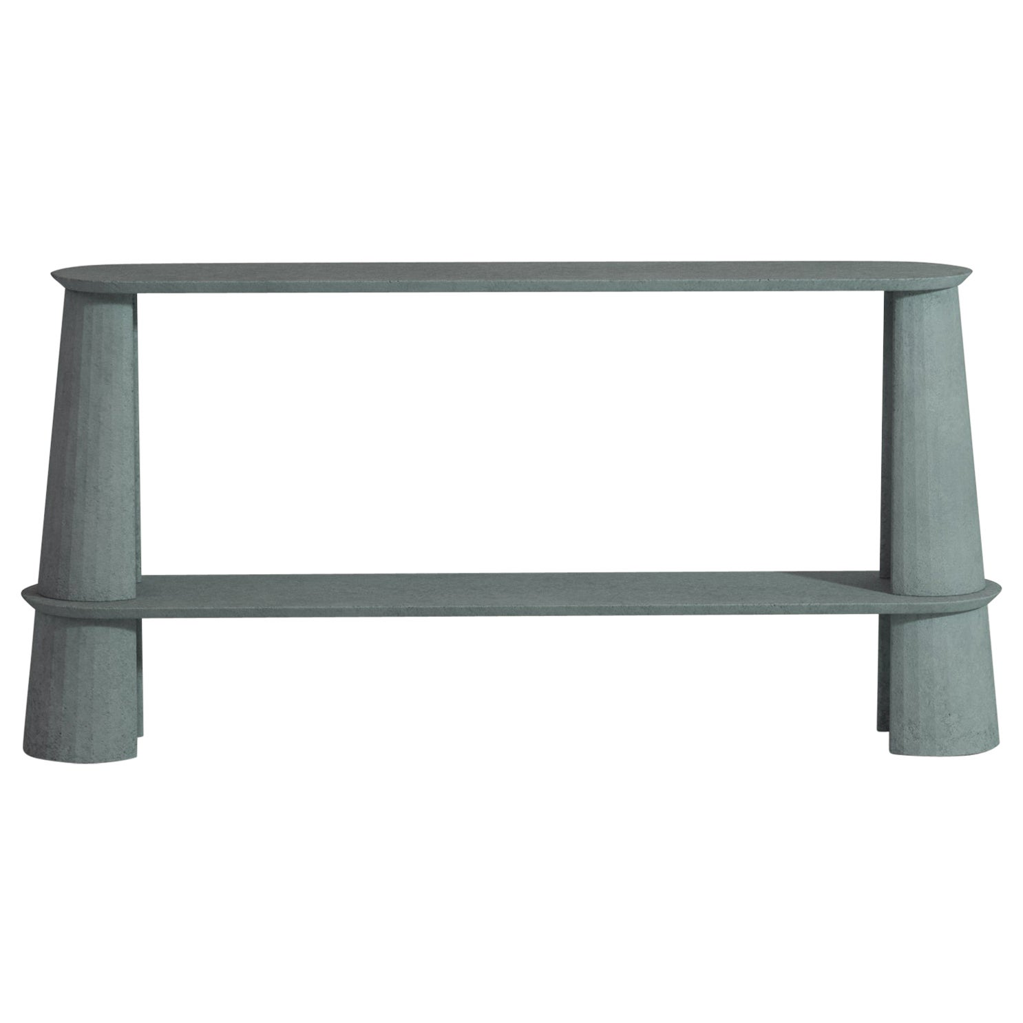 21st Century Studio Irvine Fusto Side Console Table Concrete Cement Ultramarine