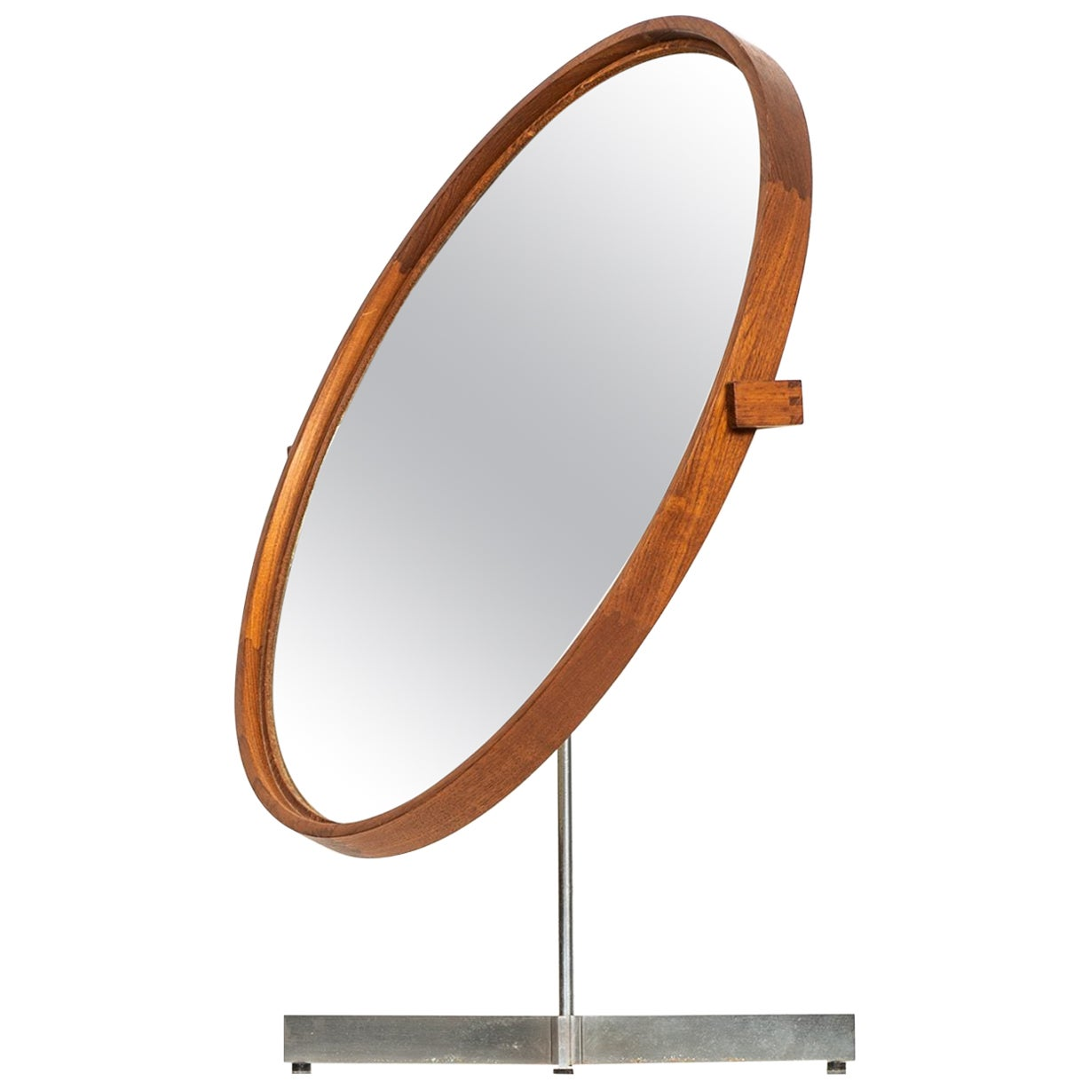 Uno & Östen Kristiansson Table Mirror Produced by Luxus in Vittsjö, Sweden