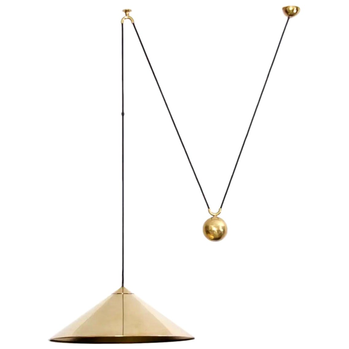 Florian Schulz Side Counter-Balance Pendant in Brass