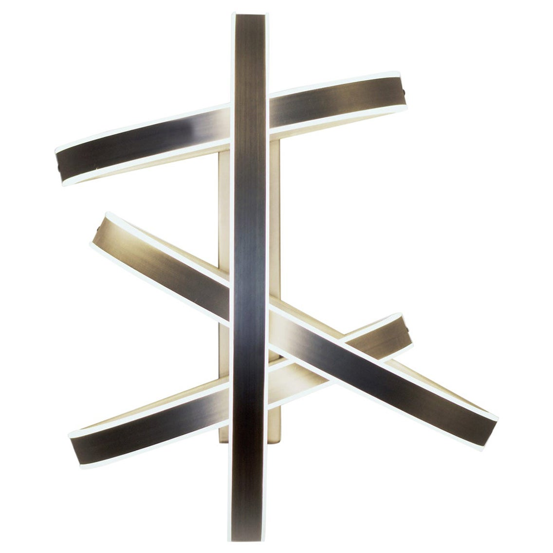 "Brass ""Cut Circle"" Wall Light, Square in Circle"