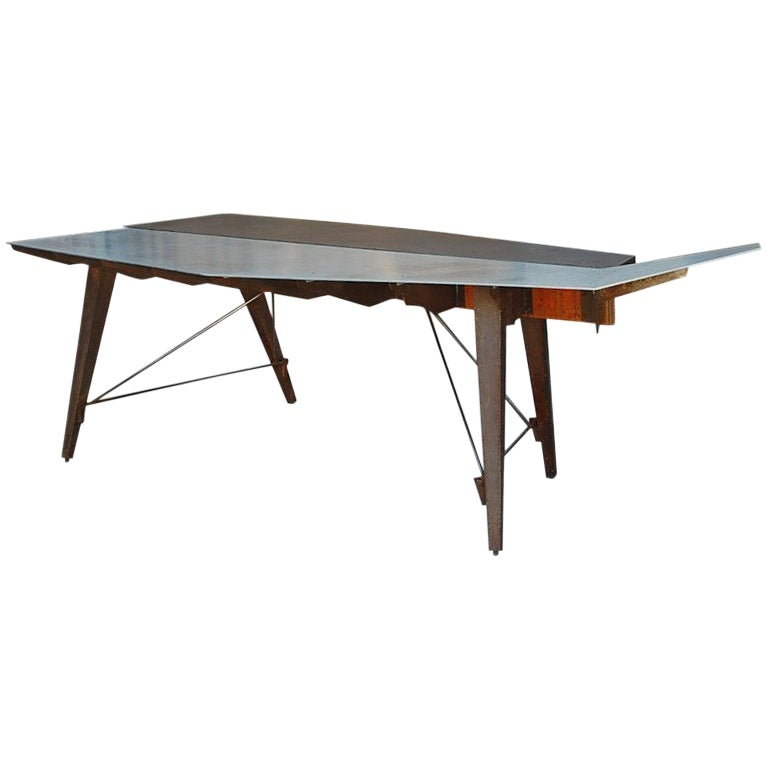 One of a Kind Industrial Studio Work Table / Desk