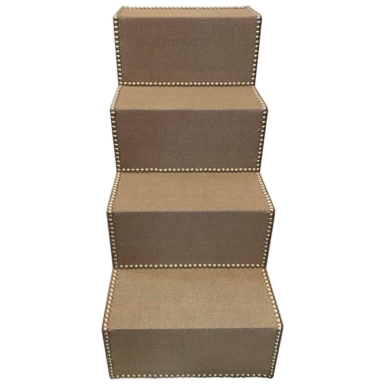 Custom Faux Shagreen Steps