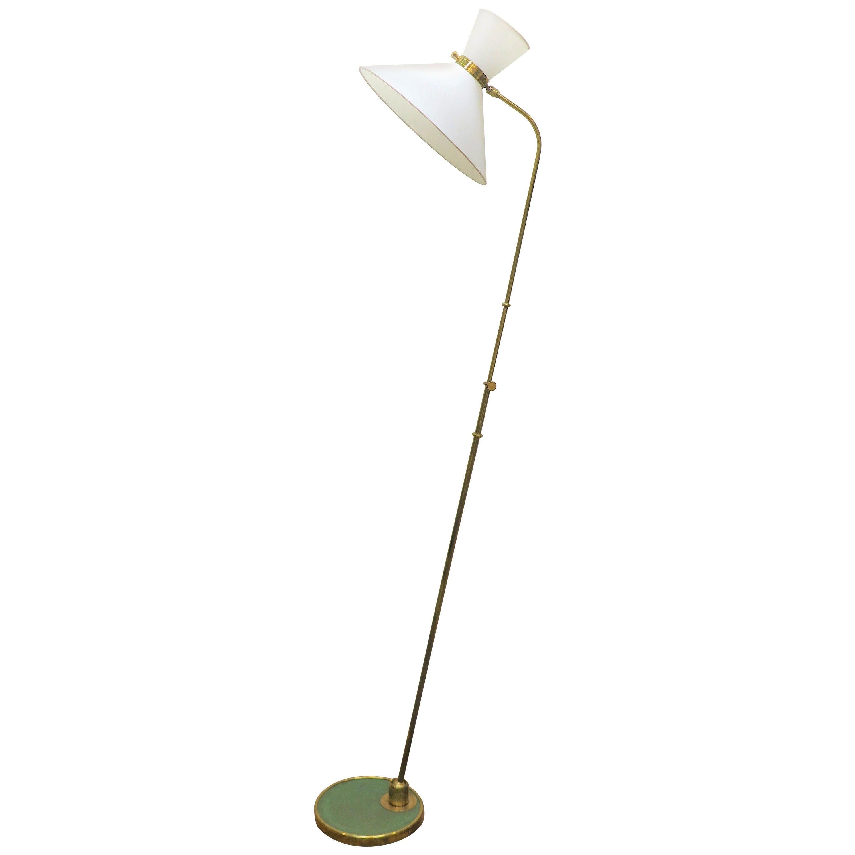 Maison Lunel Articulating Brass Floor Lamp
