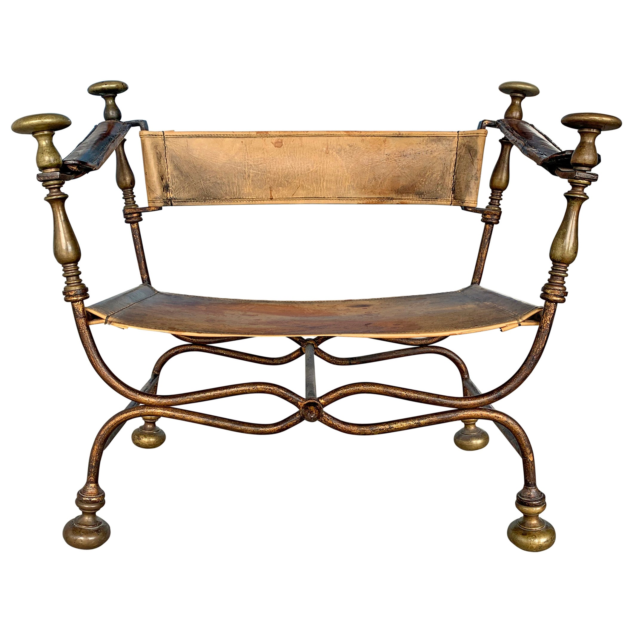 19th Century Italian Savonarola Chair