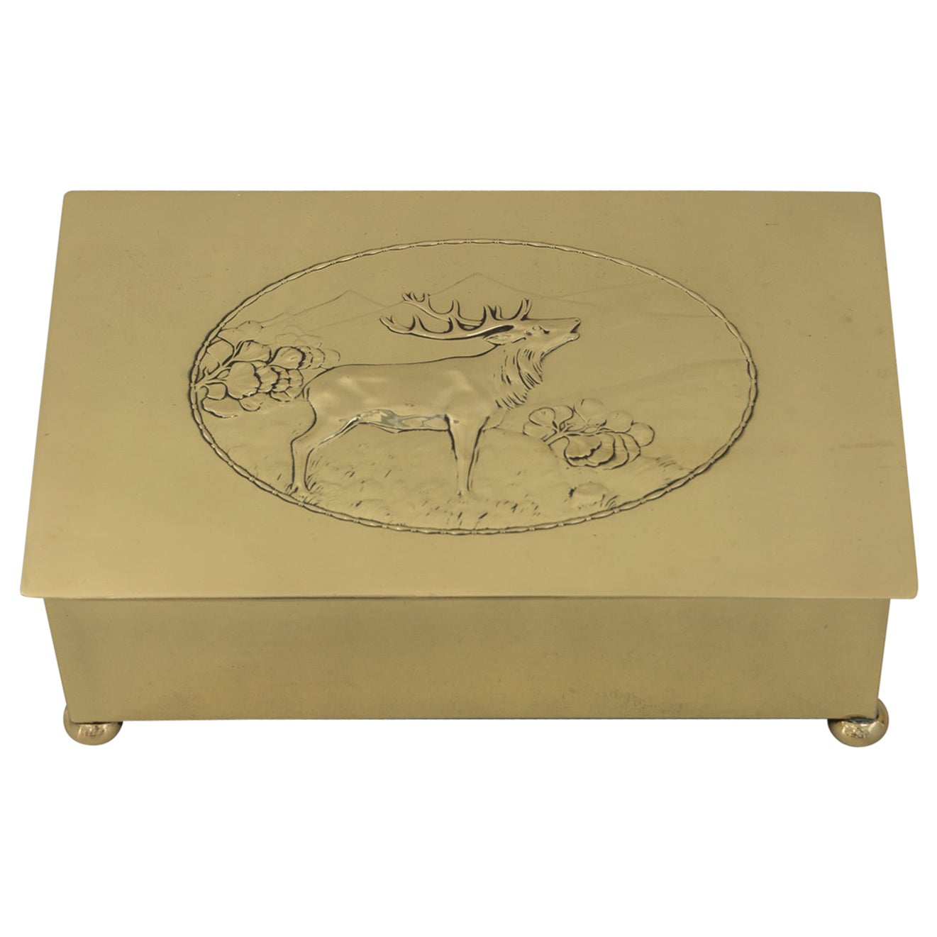Art Deco WMF Hunting Motiv Jewelry Box, circa 1920s