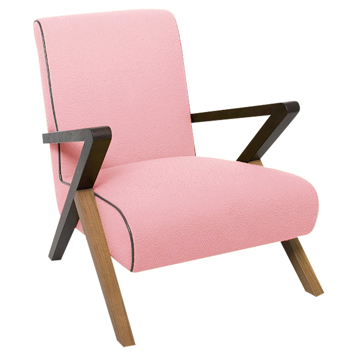 Fiftypop, Pink Armchair Inspired to the 1950s, Used for Exhibition