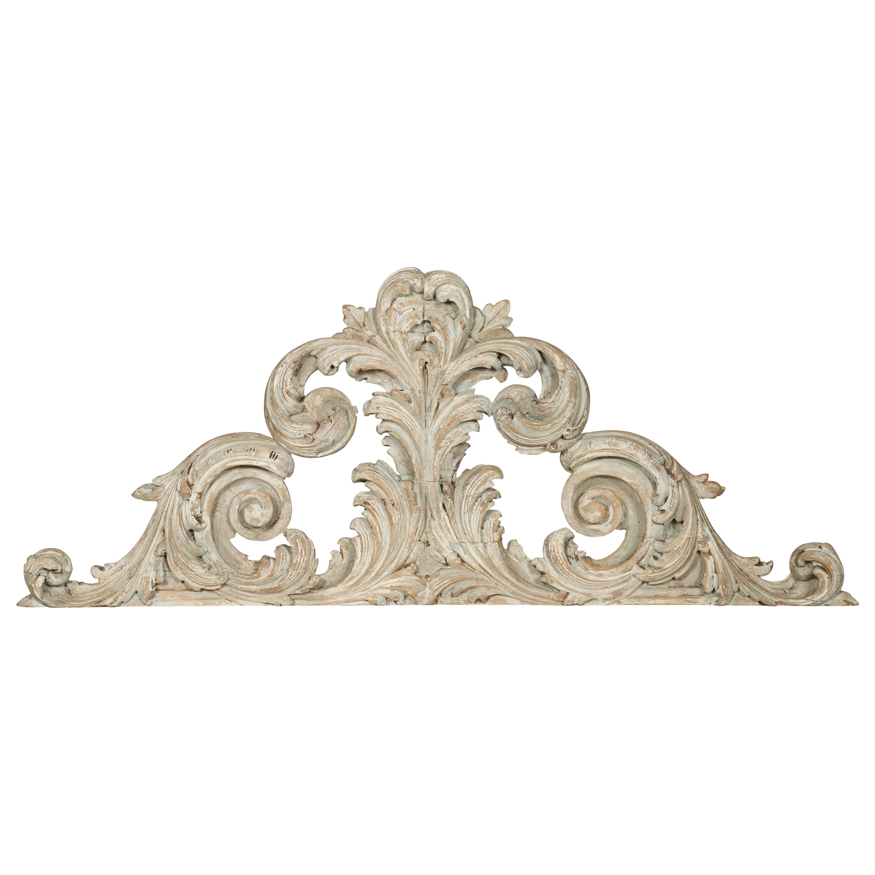 Italian 19th Century Carved and Painted Architectural Fragment with Volutes