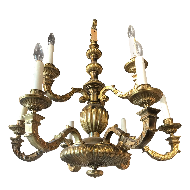 Very Fine Gilt Bronze Chandelier