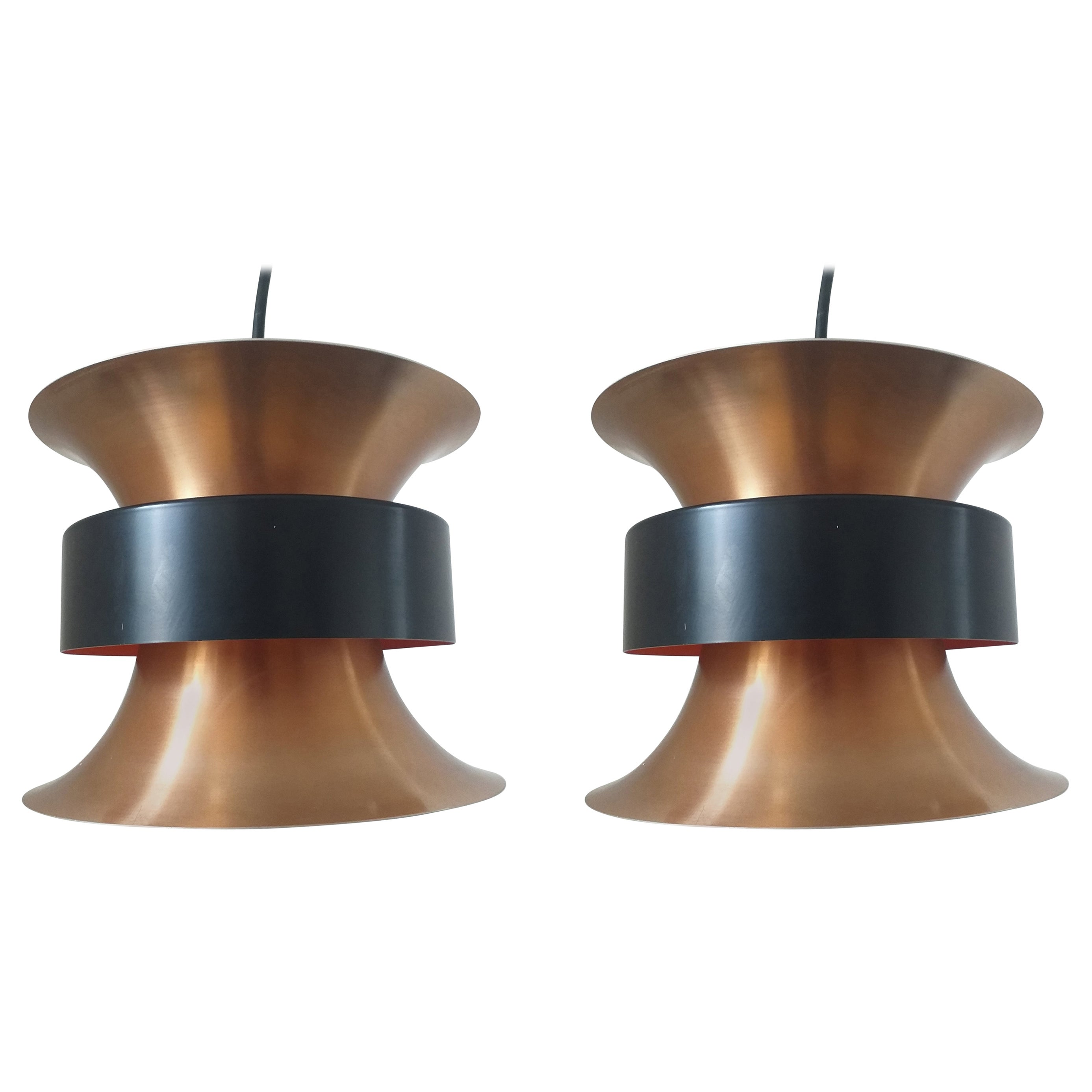 Pair of Midcentury Pendants Light Designed by Carl Thore, 1970s