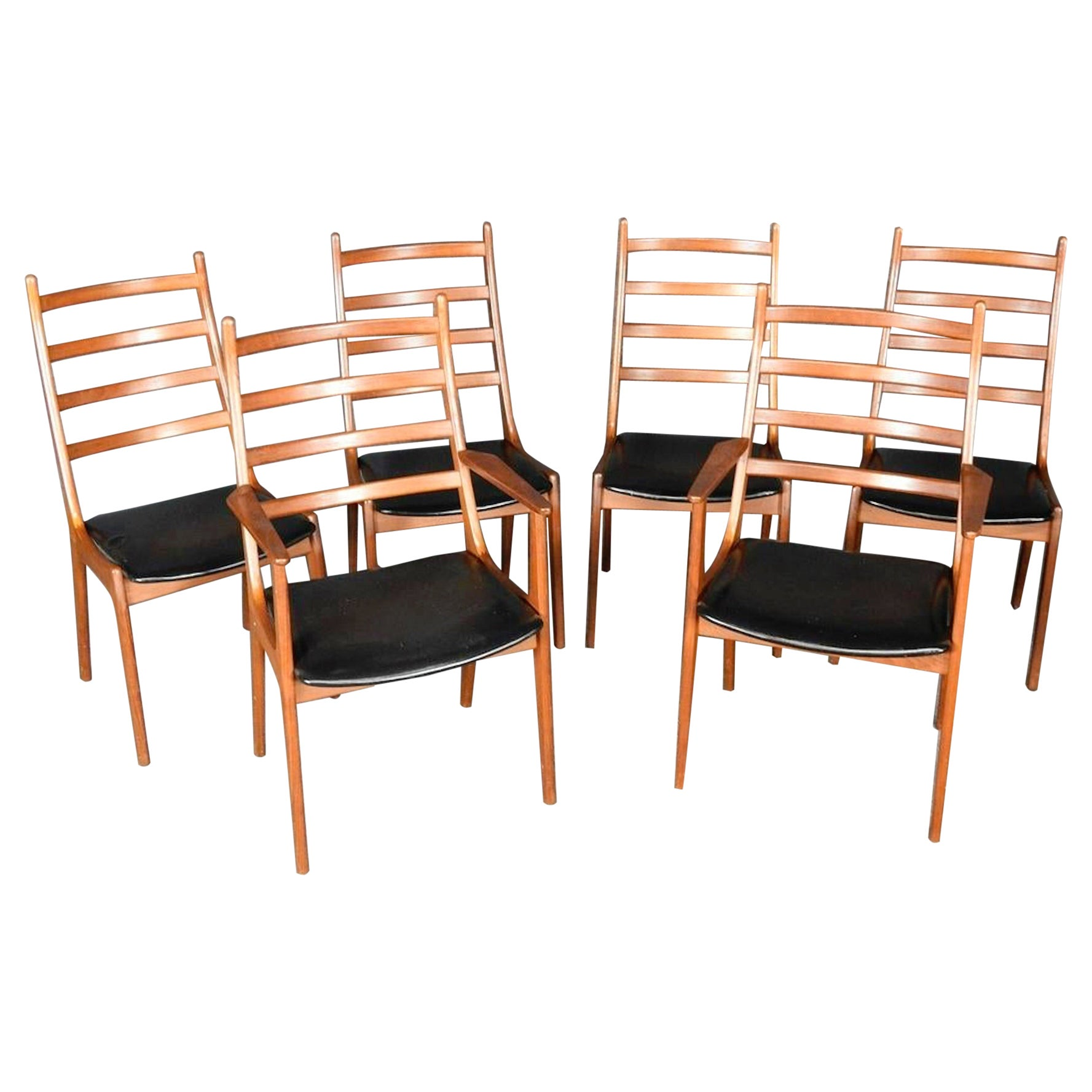 Danish Modern Ladder Back Chairs