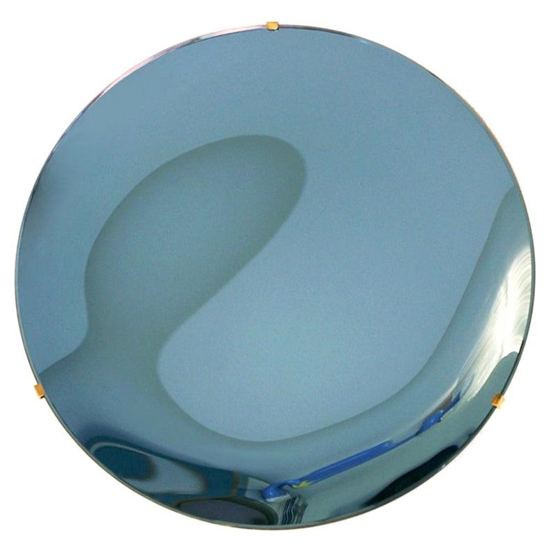 Contemporary Modern Sculptural Concave Glass Italian Mirror