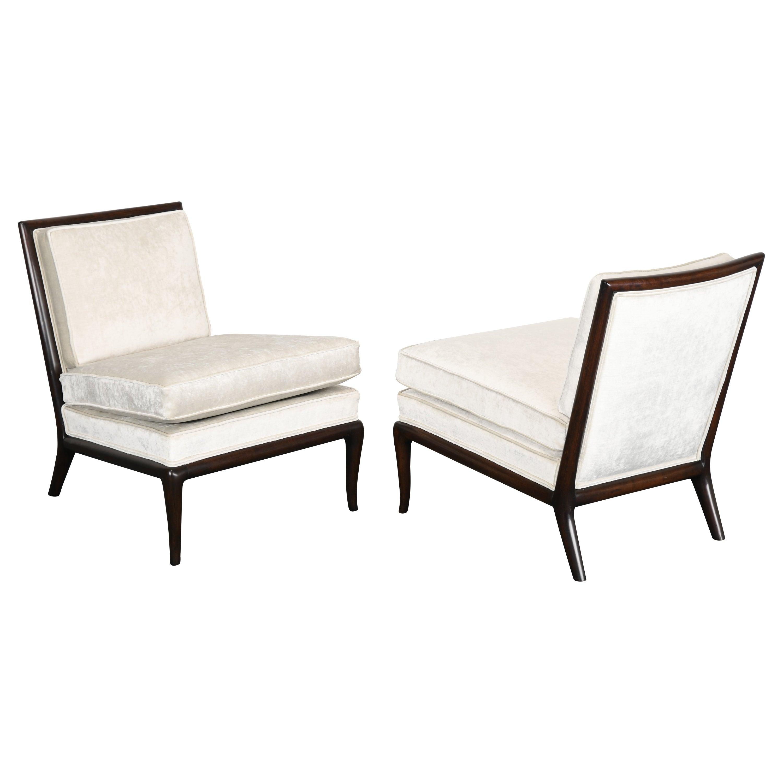 Pair of T.H. Robsjohn Gibbings Slipper Chairs, 1950s
