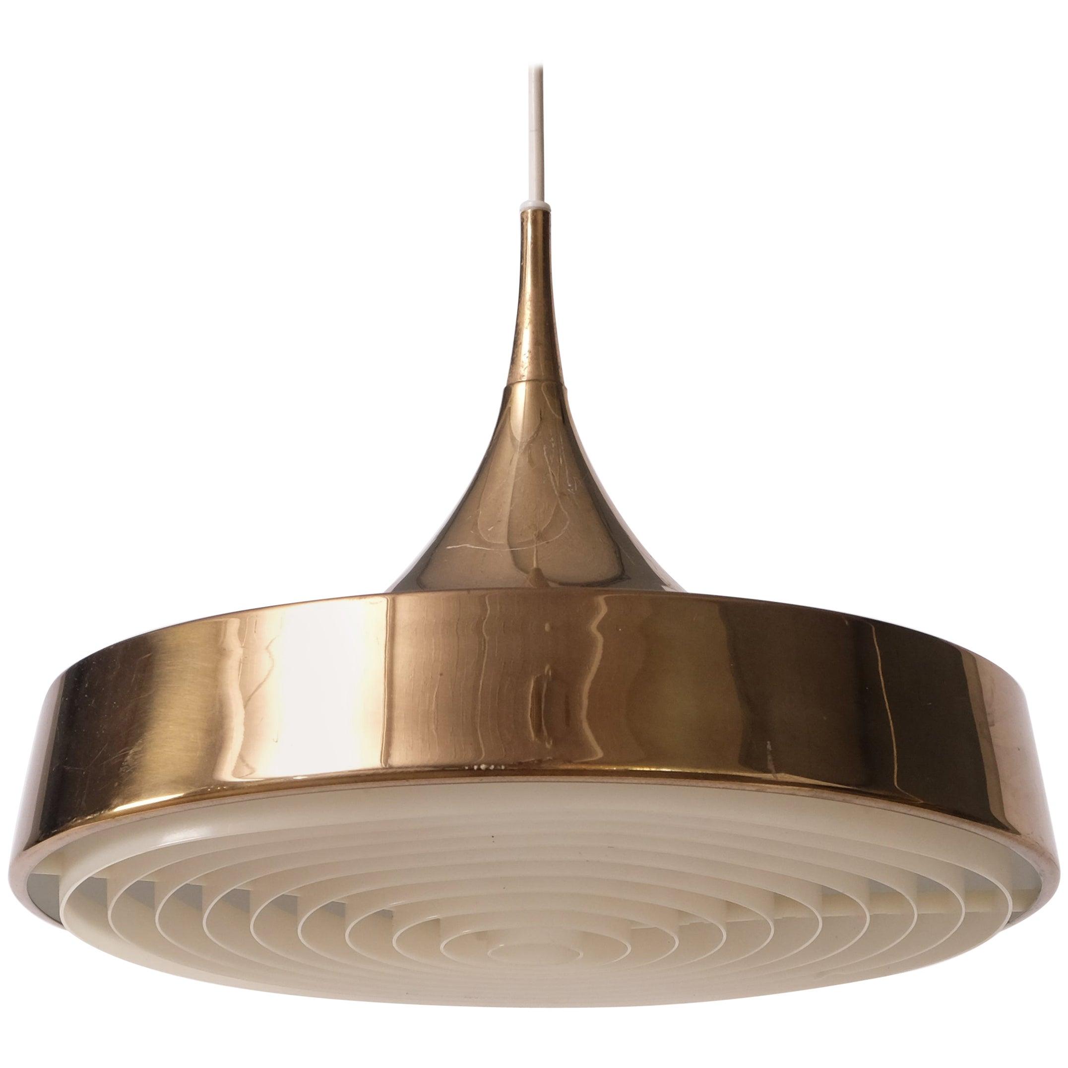 Swedish Brass Pendant, 1960s