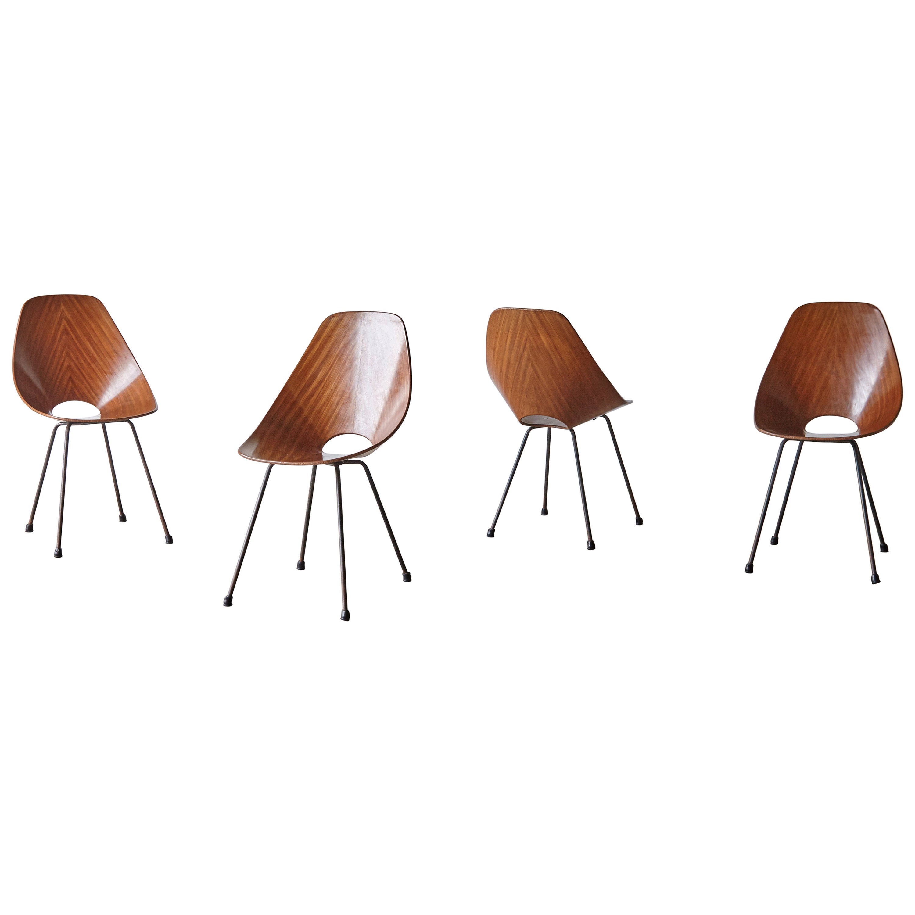 Set of Four Medea Chairs by Vittorio Nobili, Fratelli Tagliabue, Italy, 1950s