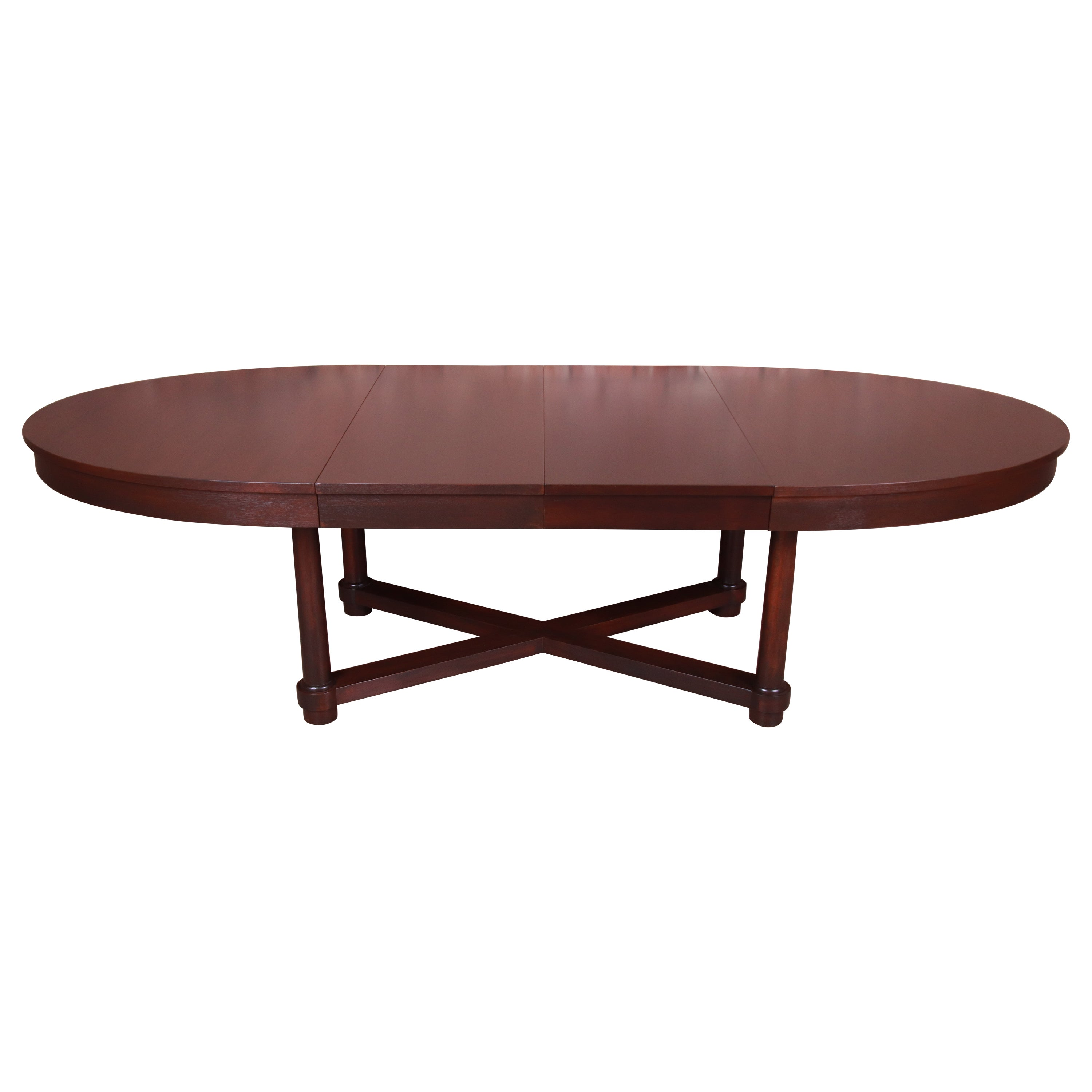 Barbara Barry for Baker Modern Mahogany Extension Dining Table, Newly Refinished