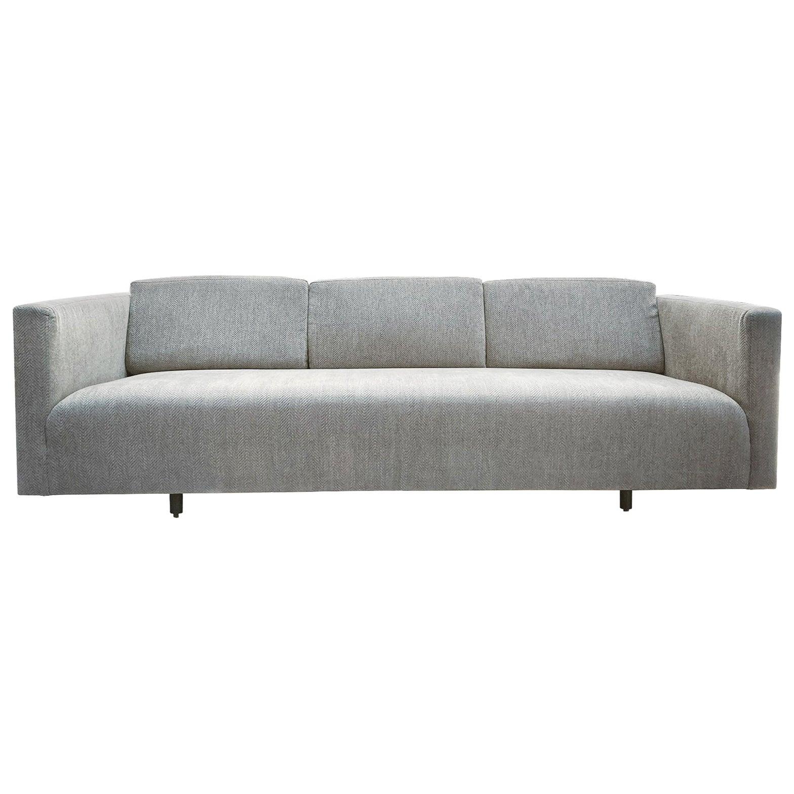 Mid-20th Century Tuxedo Sofa by Harvey Probber