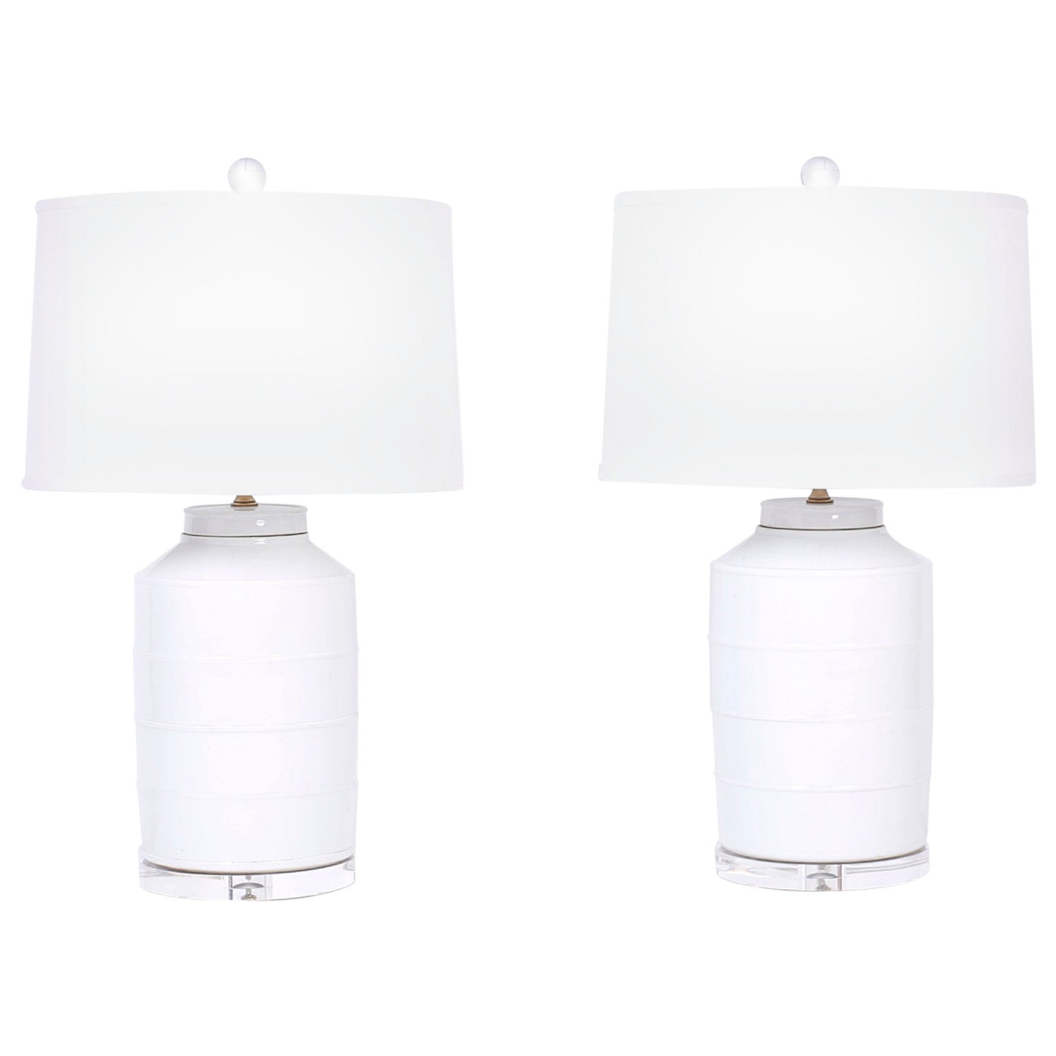Pair of Chinese Porcelain Celadon Table Lamps
