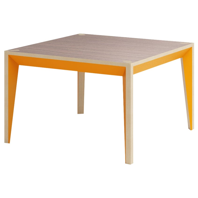 Walnut Orange MiMi Square Coffee Table by Miduny, Made in Italy