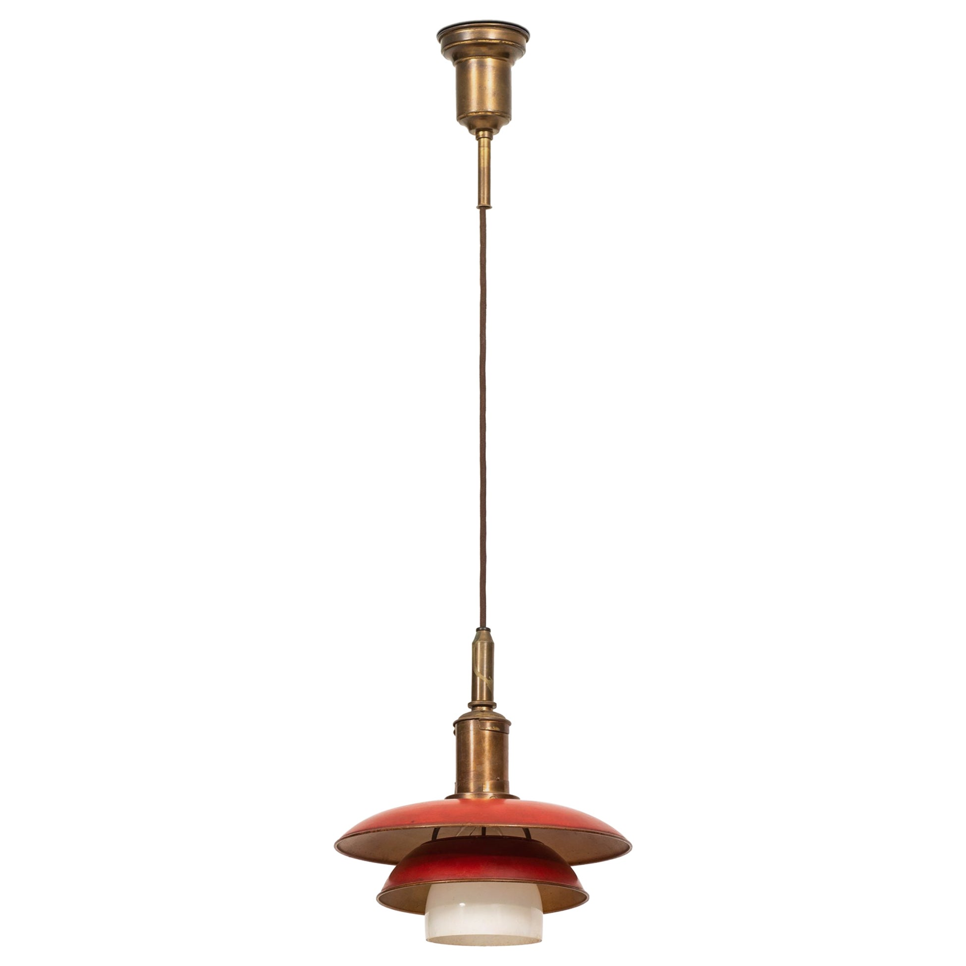 Poul Henningsen Ceiling Lamp Model PH-3/3 Produced by Louis Poulsen in Denmark