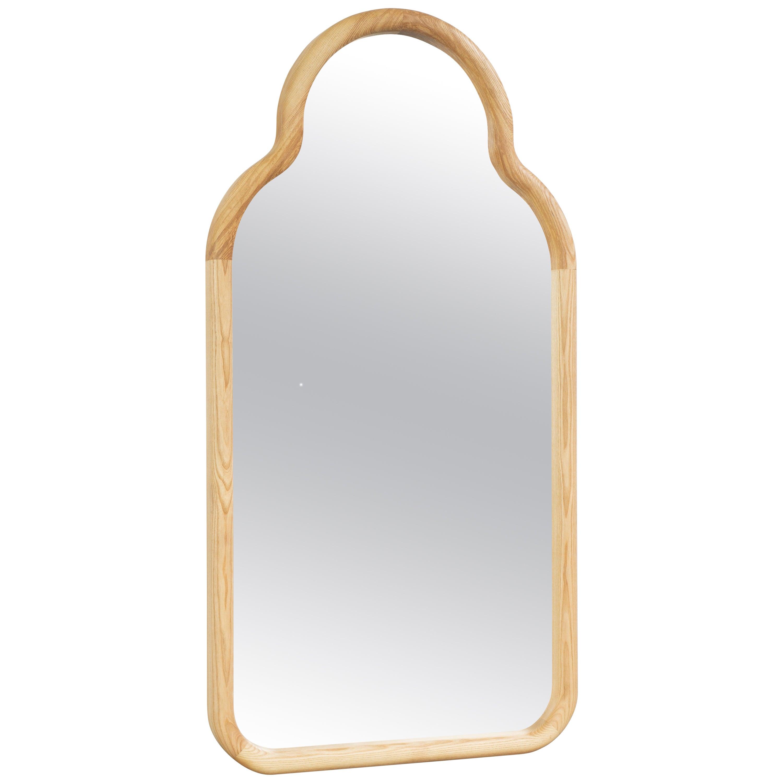 Floor Mirror TRN S, Wood (natural)