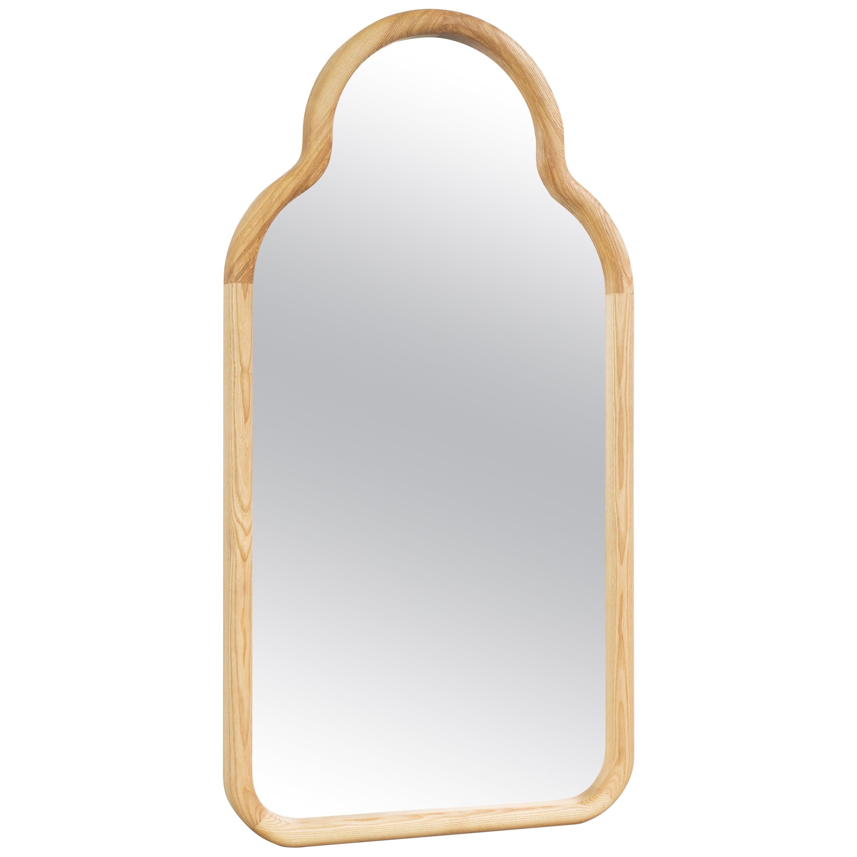 Floor Mirror TRN L, Wood (natural)