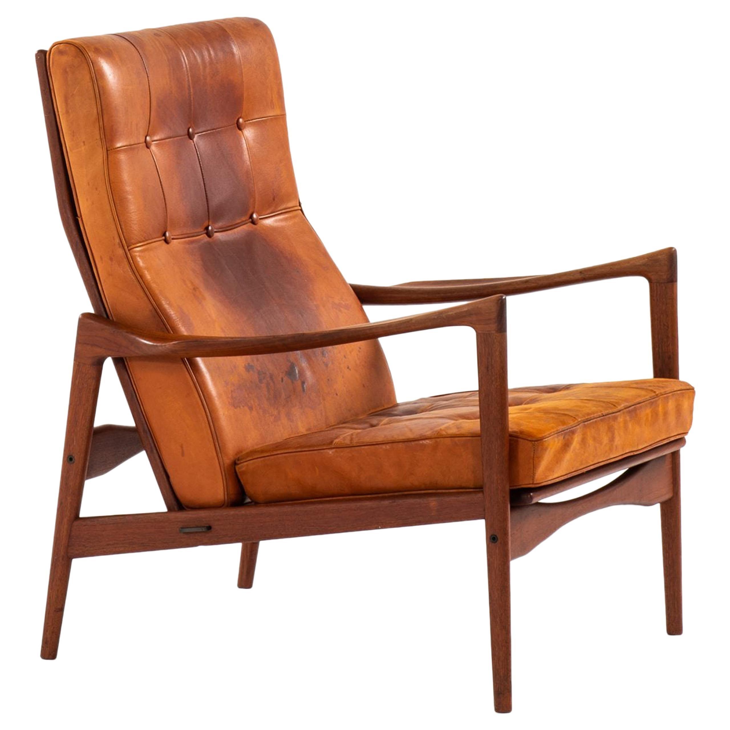 Ib Kofod-Larsen Easy Chair Model Örenäs Produced by OPE in Sweden