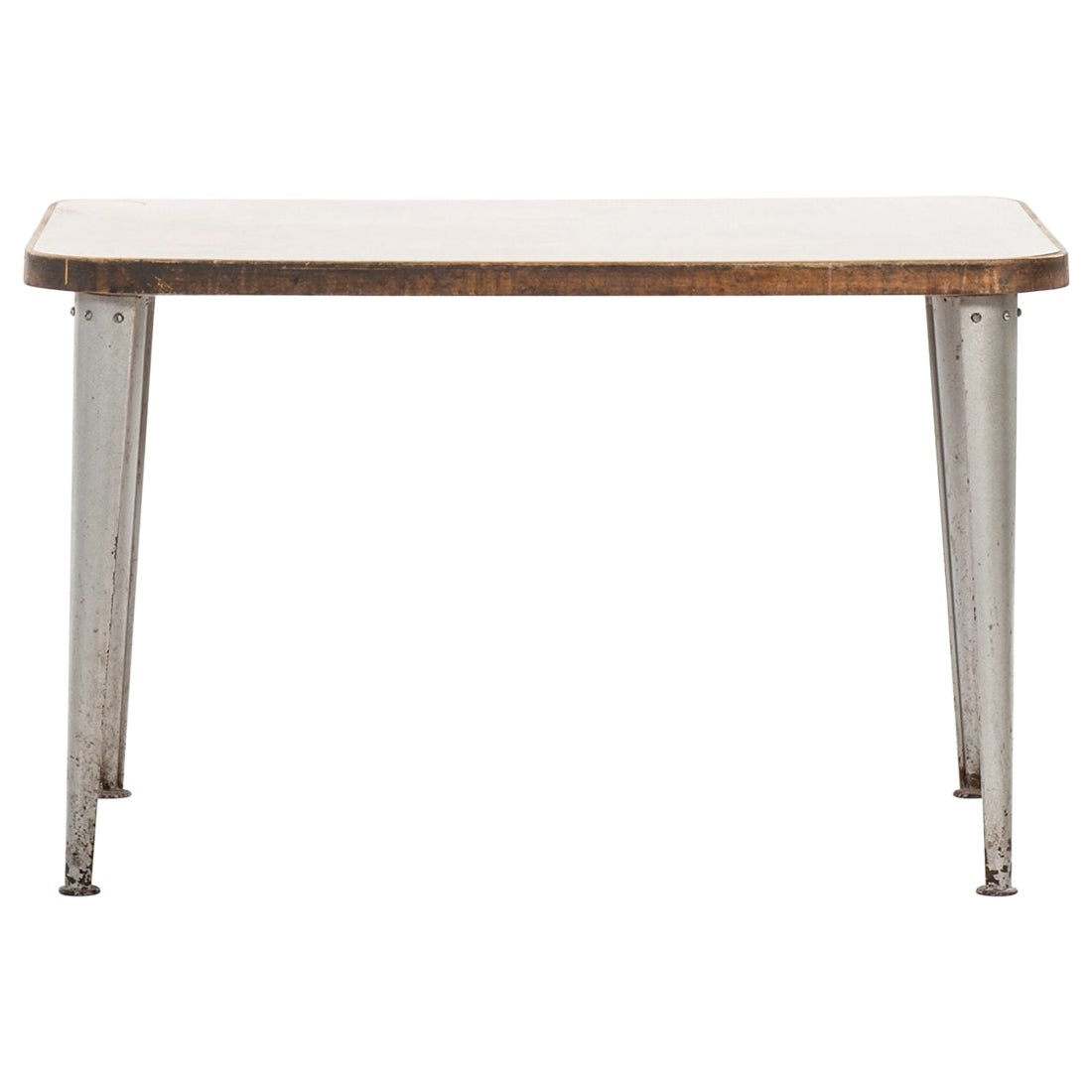 Work Table / Desk in the Style of Jean Prouvé Probably Produced in Sweden