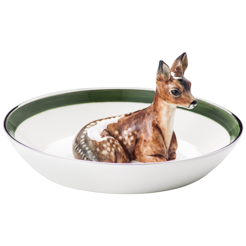 Country Style Porcelain Bowl with Bambi Figure Sofina Boutique Kitzbuehel