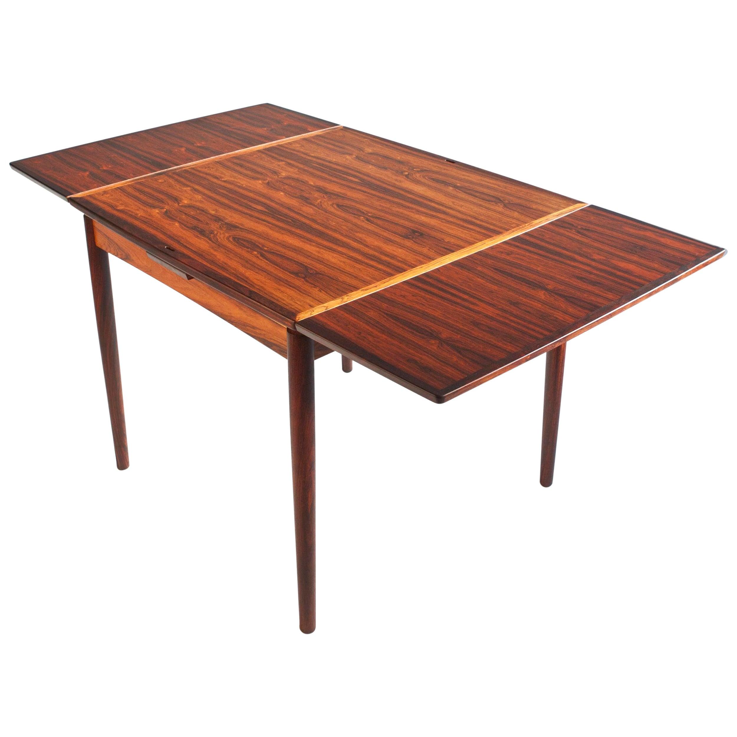 Carlo Jensen for Hundevad & Co. Brazilian Rosewood Flip-Top Table, Denmark 1960s