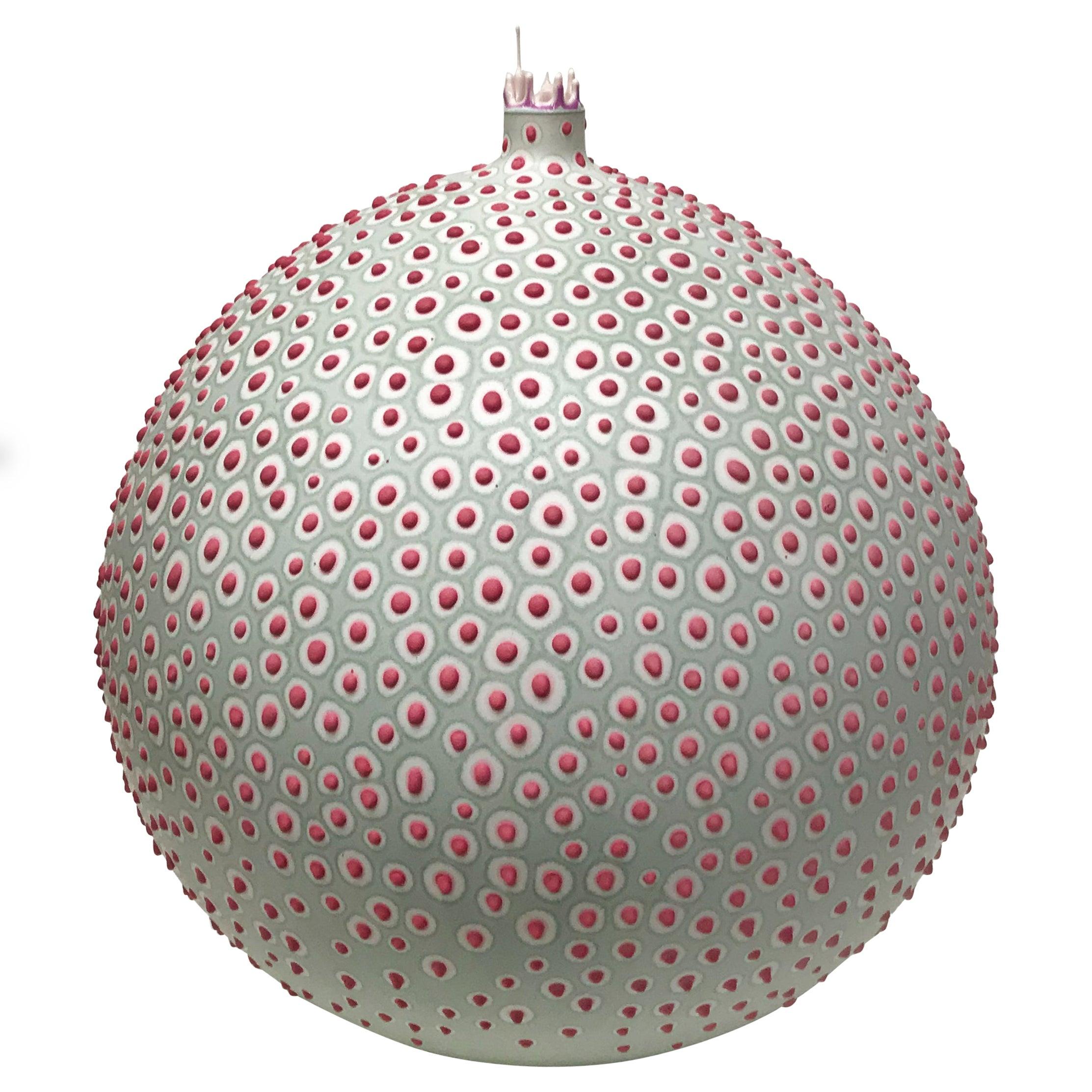 Handmade 21st Century Round Pasteur Vase in Sage Green by Elyse Graham