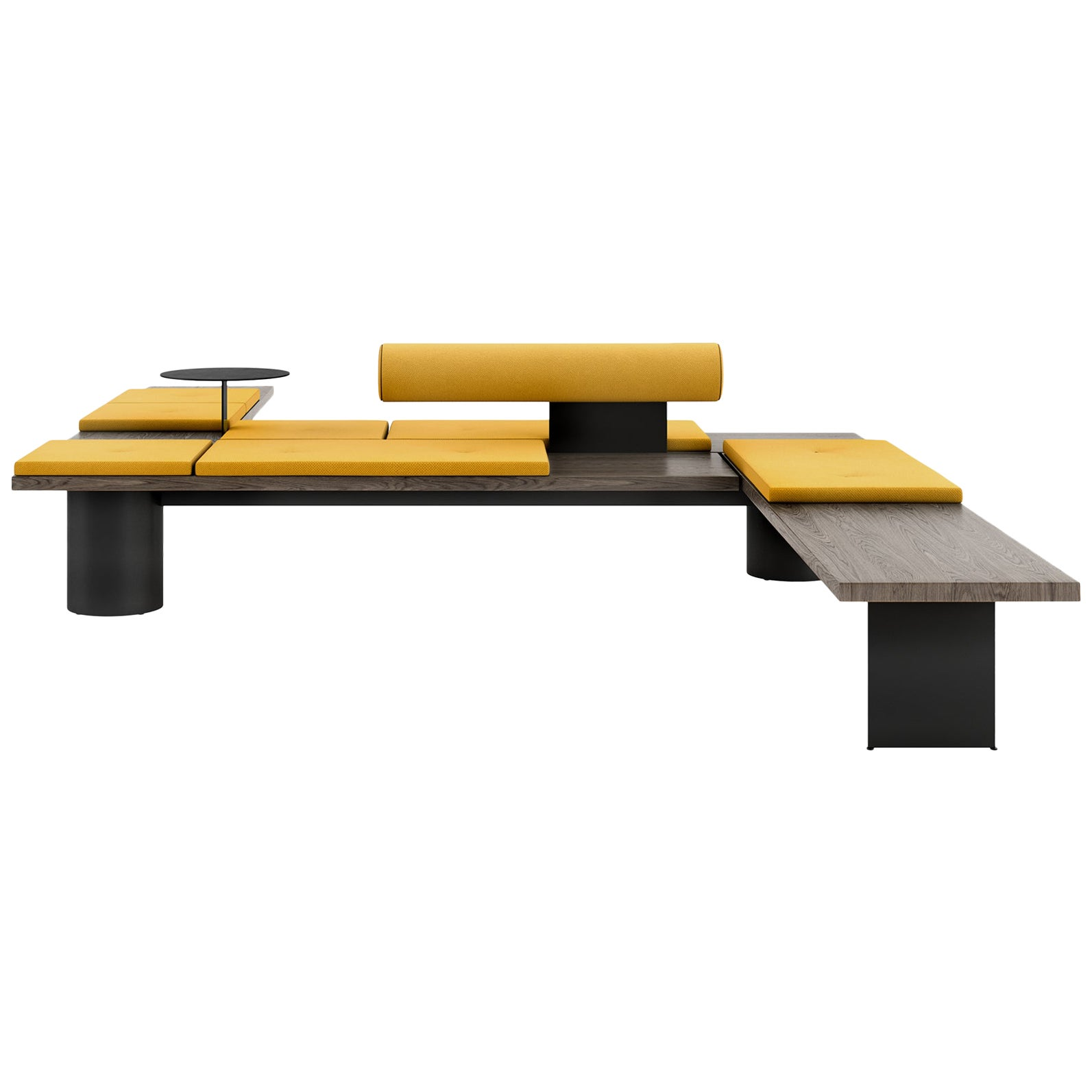 Tacchini Galleria Modular System in Wood with Steel Base by Pearson Lloyd